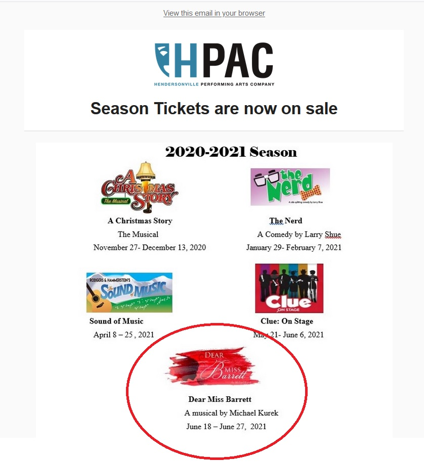 HPAC Announcement